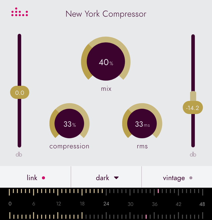 Picture of the denise New York Compressor plugin