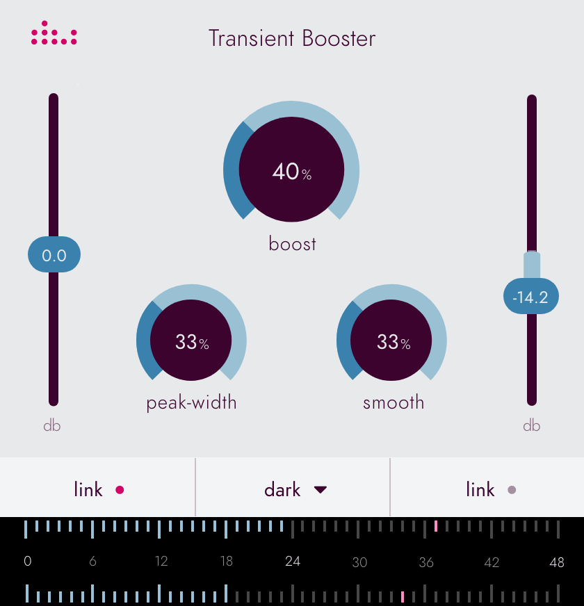Denise Essentials series plugin the Transient Booster